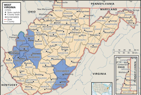 WV Appraisers Boggs & Associates coverage map
