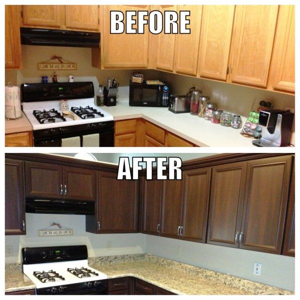 refinished kitchen cabinets before and after laminate cabinet doors replacement roselawnlutheran 25289
